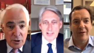 Former chancellors Alistair Darling, Philip Hammond and George Osborne
