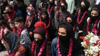 Afghan women footballers arriving in Pakistan after the Taliban takeover in September 2021