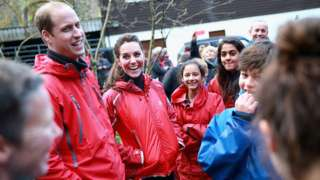 Prince William, Duke of Cambridge and Catherine, Duchess of Cambridge visit the Towers Residential Outdoor Education Centre