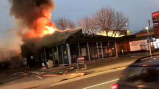 Fire at Big Johns in Leicester