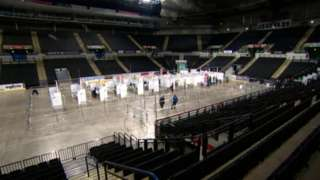 Sheffield's FlyDSA arena set up as a vaccination centre