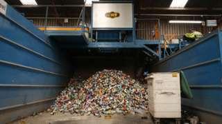 A pile of tins