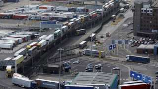 Vehicles at Port of Dover