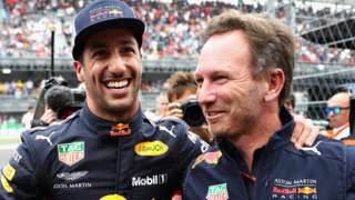 Daniel Ricciardo and Christian Horner