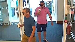 Two men in CCTV image
