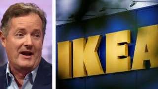 Piers Morgan and IKEA logo