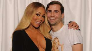 Mariah Carey with fan Jeffrey Ingold