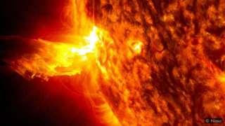 太阳不断向外抛射称为太阳风的高能粒子流。太阳风会因太阳活动的强弱而加剧或放缓。