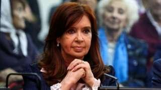 President Cristina Fernandez de Kirchner appears at court in Buenos Aires