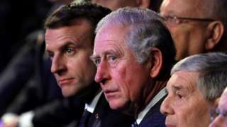 French President Emmanuel Macron and Charles, Prince of Wales