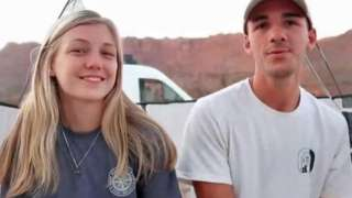 Gabby Petito (left) was found dead in Wyoming