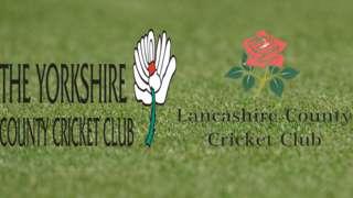 Yorkshire v Lancashire badges