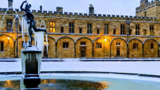 Icicles at Christ Church college