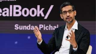 Sundar Pichai, C.E.O., Google Inc. speaks onstage during the 2018 New York Times Dealbook on November 1, 2018 in New York City.