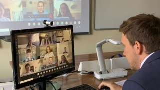 A video class at Epsom College