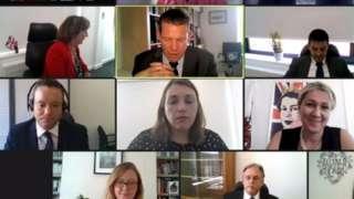 Senedd video conference