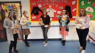 Sharon Dowie, Claire Moore, Emma Christie, Katie Wolsey and Kelly Northey