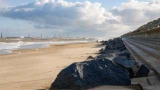 Sea Palling on the Norfolk coast.