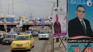 Election posters in Iraq