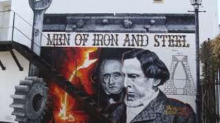 Mural of Robert and David Mushet