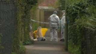 forensics officers on scene