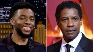 Chadwick Boseman and Denzel Washington