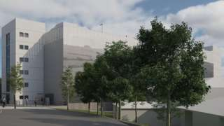 Artist's impression of new hospital multi-storey car park
