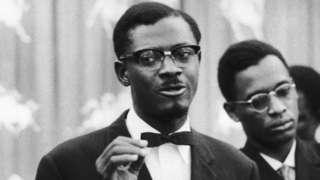 The Prime Minister of Congo Kinshasa Patrice Lumumba in Congo in 1960.