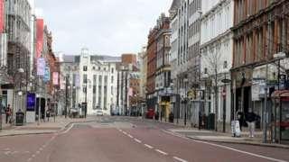 Belfast City centre streets.