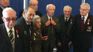 The seven British Normandy veterans
