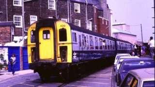 Train at Custom House Quay, Weymouth