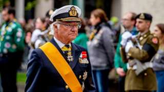 King Carl Gustaf of Sweden attend the funeral of Grand Duke Jean of Luxembourg on May 4, 2019 in Luxembourg,