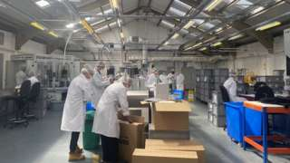 Workers at Denroy