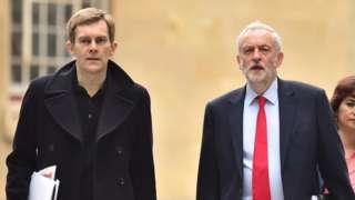 Jeremy Corbyn and his adviser Seamus Milne