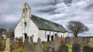 Malew Church and churchyard