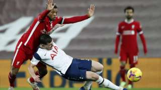 Action from Liverpool's 2-1 win against Tottenham in December