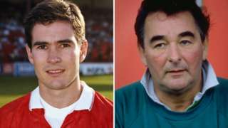 Nigel Clough and Brian Clough