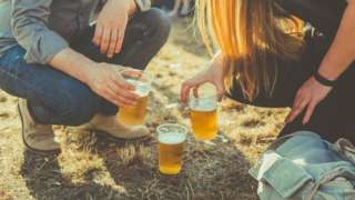 People friends toasting with beer - generic