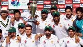 Pakistan celebrate a series win