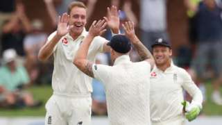 Stuart Broad celebrates