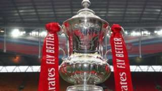 The FA Cup on display at Wembley