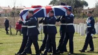 Funeral for WO John Henry Coates
