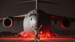 A C-17 in Baghdad, 2016