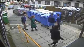 CCTV footage of hospital car park