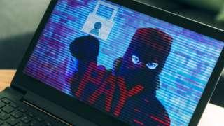 Ilustração de ransomware