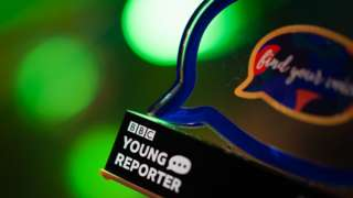 BBC Young Reporter Competition trophy