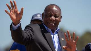 South African President Cyril Ramaphosa visits Hanover Park, Cape Town, South Africa 2 November 2018