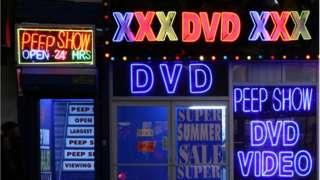 File photo of US porn shop