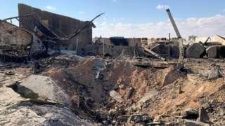 Ayn el Esad hava üssündeki hasar