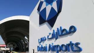 Dubai airport sign